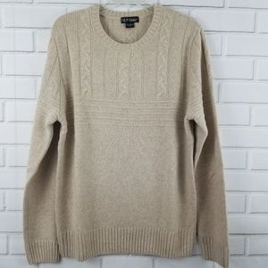 Neiman Marcus Cable Yoke Cashmere Sweater